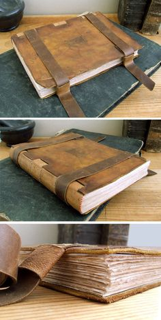 TeoStudio is a bindery specialized in handmade leather journals and blank books, diaries with lock and key, notebooks and artist bindings. Handmade Journals, Handmade Books, Handmade Notebook, Handmade Rugs, Handmade Crafts, Leather Bound Books, Leather Journal, Leather Sketchbook, Book Journal