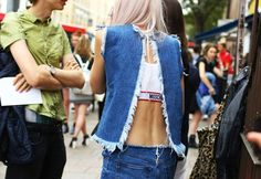 ALWAYS LOVE A STYLISH BACK - Street Style: London Fashion Week Spring 2015 — Vogue