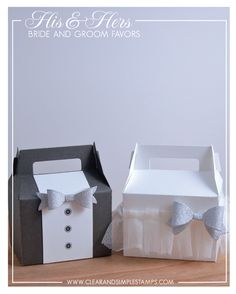 Clear and Simple Stamps Wedding Cake Boxes, Wedding Party Favors, Wedding Centerpieces, Pretty Packaging, Gift Packaging, Cookie Packaging, Cardboard Lunch Boxes, Glitter Wine Bottles, Ribbon Cards