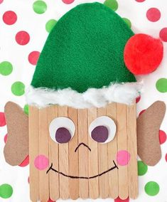Popsicle Stick Elf | AllFreeKidsCrafts.com
