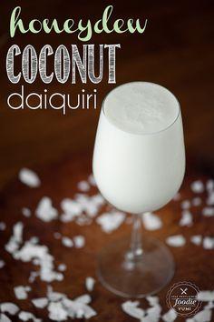 Honeydew Coconut Daiquiri | Self Proclaimed Foodie