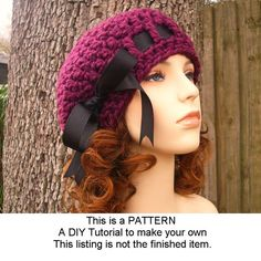 Hey, I found this really awesome Etsy listing at https://www.etsy.com/listing/93336783/instant-download-crochet-pattern-hat