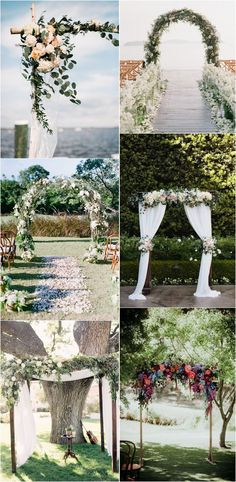 Floral wedding arch decoration ideas #weddingdecor #weddingideas #weddingarches #greenerywedding