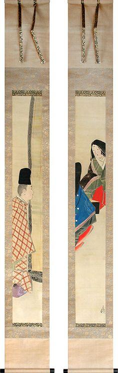 Kobayashi Kiyochika pair of paintings
