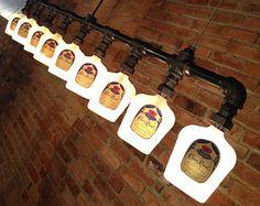 Style industriel bouteille Jim Beam lustre par newwineoldbottles