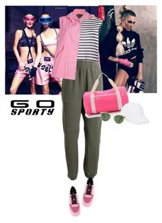 """""""go sporty"""" by saramoreira ❤ liked on Polyvore featuring Mr & Mrs Italy, T By Alexander Wang, adidas Originals, Bensimon, Hogan, Talbots and Oliver Peoples"""