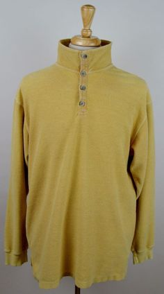 men's The Territory Ahead yellow long sleeve heavy cotton blend polo LT shirt #TheTerritoryAhead #PoloRugby