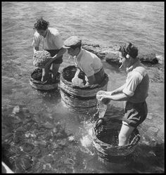 GRECE - Sponge-divers, Aegina island, Photograph by Voula Papaioannou - Benaki Museum - Photographic Archives! Greek Blue, Old Greek, Greece Photography, Bw Photography, Old Time Photos, Old Pictures, Mykonos, Benaki Museum, Greek History