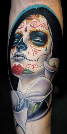 day of the dead, dia de los muertos, sugar skull, sylvia ji, tattoo