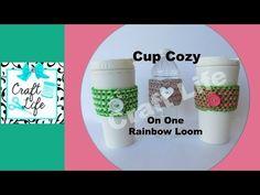 Craft Life Cup Cozy Tutorial on One Rainbow Loom - YouTube
