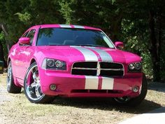 pink 2006 dodge charger