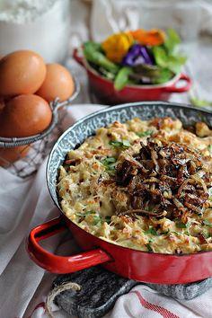 Illéskrisz Konyhája: ~ KASESPATZLE ~ Paella, Bacon, Ethnic Recipes, Food, Eten, Meals, Diet