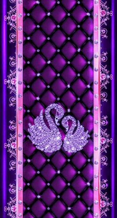 By Artist Unknown. Swan Wallpaper, Pretty Phone Wallpaper, Butterfly Wallpaper Iphone, Cover Wallpaper, Heart Wallpaper, Purple Wallpaper, Purple Backgrounds, Cellphone Wallpaper, Colorful Wallpaper