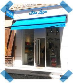 Logo, store et kakémono installés, votre nouvelle boutique Blue Lemon Paris - Ferrandière est fin prête ! #boutique #ferrandière #Lyon #accessoires #bluelemonparis