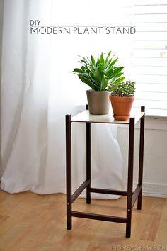 DIY Modern Plant Stand   Homey Oh My!