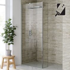900mmx250mm Premium EasyClean Wetroom Panel & Return Panel 8mm thick glass - soak.com