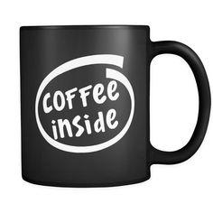 Amazon.com: Coffee Inside / Tea Inside Coffee Mug Geek / Tea Cup Geek Funny Intel Logo Computer Parody Black Ceramic 11 oz Coffee Mug / Tea Cup made in USA by Awesome eMERCHency (Coffee Inside): Kitchen & Dining