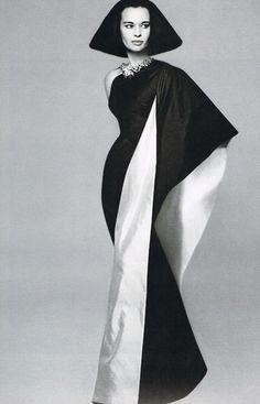 Richard Avedon. Portrait of Gloria Vanderbilt wearing a creation of Mainbocher, 1960