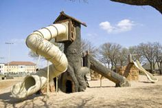 Custom tree house playground.  Customizing play space provides higher levels of play value!  #Children #Fun #Education
