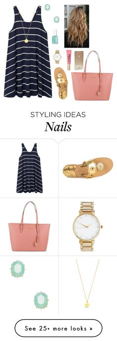 """Please read d! ❤️"" by preppy80 on Polyvore featuring MANGO, Jack Rogers, ASOS, Kate Spade, Kendra Scott, Michael Kors, Essie and Too Faced Cosmetics"