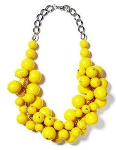 praying for sunshine: DIY yellow cluster necklace Yellow Necklace, Yellow Jewelry, Cluster Necklace, Diy Necklace, Fashion Necklace, Yellow Accessories, Necklace Tutorial, Diy Accessories, Diy Jewelry