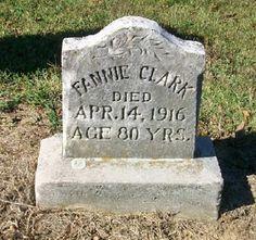 Western Kentucky Genealogy Blog: Tombstone Tuesday - Fannie  #genealogy
