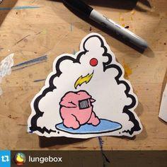 #StickerSocialClub @lungebox