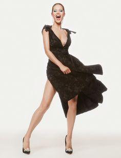 Emily DiDonato wears Miu Miu dress
