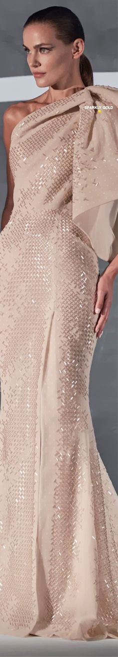 Rami Al Ali Spring 2021 Couture Rami Al Ali, Elegant Dresses, Formal Dresses, Spring, Opera, Gloves, How To Wear, Runway, Blush