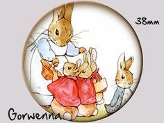 Button Häschen von Gorwennas Timeless Patterns auf DaWanda.com