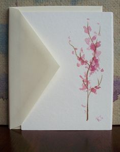 Cherry Blossom cards-hand painted-mother's day!