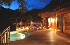 Thanda Private Game Reserve, the main lodge safari-style tented camp