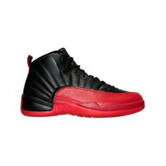 Nike Men's Air Jordan Retro 12 Basketball Shoes ($55) ❤ liked on Polyvore featuring men's fashion, men's shoes, men's athletic shoes, mens woven leather slip-on shoes, nike mens athletic shoes, mens leather shoes and mens slip on shoes