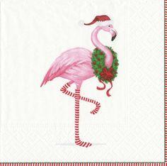 Flamingo Christmas Cards Tropical Christmas 10 Per