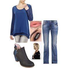 Baby's got her blue jeans on by sarabray on Polyvore featuring polyvore fashion style Gold Hawk LTB by Little Big El Naturalista