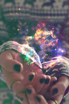 A galaxy on your hands.