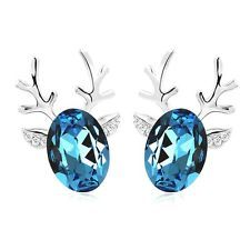 Blue Reindeer Earrings