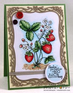Inspired to Stamp: Juicy Strawberries! image by Power Poppy - G20, G21, G24, G28, R30, R32, R35, R37, Y00, E40, E21, E23, E25, B0000, B000, B91