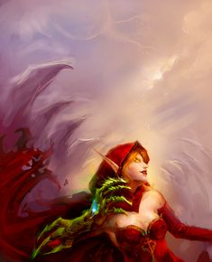 Blood Elf Blood Elf, World Of Warcraft, Fan Art, Fictional Characters, Female, Fantasy Characters