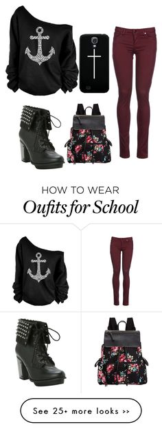 """""""Back To School look 1"""" by zeniboo on Polyvore"""