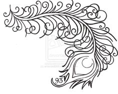 Pics For > Tribal Peacock Feather Drawing