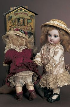 A Whispering of Dolls: 7 French Bisque Bebe, Depose EJ, by Jumeau, Size 1
