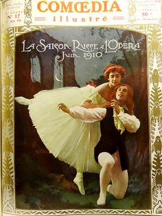 "tamara karsavina   Tamara Karsavina and Vaslav Nijinsky in the Ballet ""Les Sylphides ..."