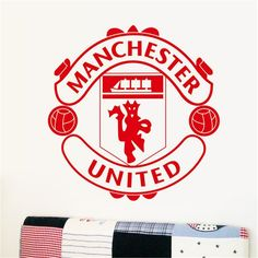 Manchester United, Red Army, Diy Wall Art, Juventus Logo, Living Room Bedroom, Logos, Wall Stickers, The Unit, Athletic Wear
