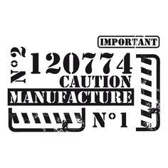 Stickers decoration industriel Manufacture 49 x 31 cm DÉCORÉCÉBO Mood Wallpaper, Print Fonts, Salon Style, Vintage Birthday, Paper Tags, Stickers, Vintage Industrial, Industrial Farmhouse, Wood Blocks