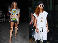 From edgy, high-glamour looks to playful daytime outfits, Rihanna always looks smokin' hot and incredibly cool.