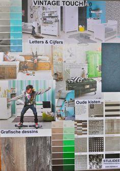 Moodboards Kleurtrends 2015 voor Kinderkamers by  STIJLIDEE Interieuradvies en Styling | Vintage Touch via www.stijlidee.nl