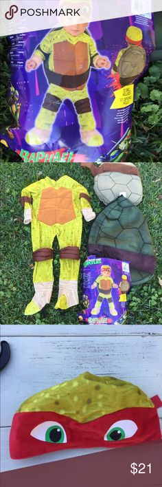 Teenage mutant ninja turtle Raphael costume Worn once! In great shape! Toddler  two to four T teenage mutant ninja turtle Costumes Halloween