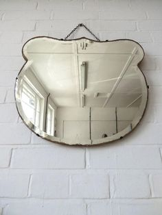Vintage Art Deco Bevelled Edge Wall Mirror by uulipolli on Etsy