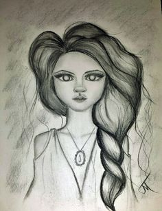 whimsy charcoal girl